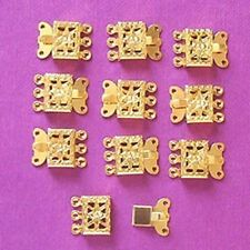 20 x 3-string GP push-in clasps, findings for jewellery making crafts