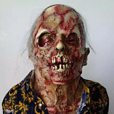 Horror Halloween Mummy Zombie Scary Mask Ghost Party Dress Latex Cotsume Prop