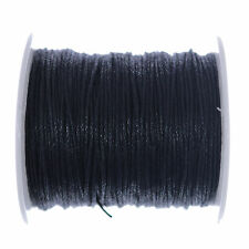 10 Metres Black Waxed Cotton Cord 1mm Jewellery Making String Thread Crafts