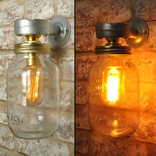 The Carter New Industrial Style Jar Wall Light Vintage Retro Lighting Sconce