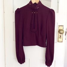 Zimmermann crepe moulded blouse mulberry - size 1