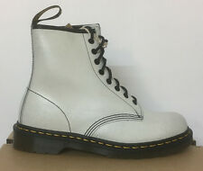 DR. MARTENS 1460  WHITE + BLACK  CRSTAL SUEDE LEATHER  BOOTS SIZE UK 8