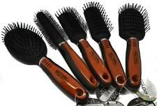 Set Of 5 Royal Wooden Handle Styling Hair Brush Radial Cushion Standard Tunnel