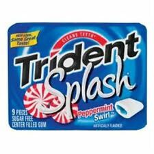 Trident Splash Sugar Free Gum Peppermint Swirl 10 pack (9 ct per pack)