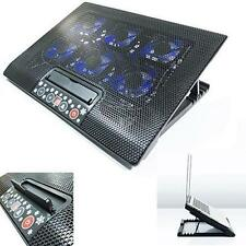 """LAPTOP COOLER STAND WITH 6 FAN & TILT FOR 15 17"""" INCH BUTTON CONTROL COOLING PAD"""