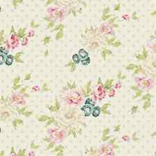Tilda Fabric. Spring Lake. Cybill in Dove White. floral cotton.  By the FQ