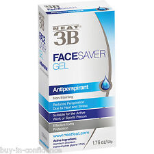 Neat 3B Face Saver Gel Antiperspirant 50g Reduces Facial Sweating