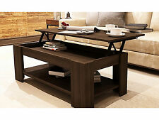 New Caspian Espresso Lift Up Top Coffee Table with Storage & Shelf