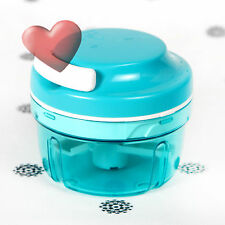 NEW Tupperware Turbo Chef Chopper Limited release Aqua Blue Onions Nuts