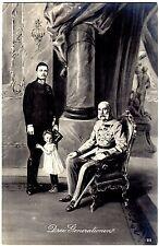 POSTCARD EMPEROR FRANZ JOSEF I AUSTRIA-PRINCE & PRINCESS -DREI GENERATIONS-1914