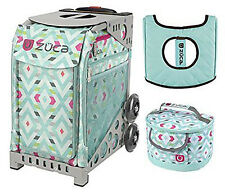Zuca Sport Bag - Chevron with GIFT Lunchbox and Seat Cover (Gray Frame)