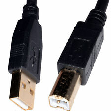 3m USB Cable Printer Lead Type A to B Male High Speed 2.0 GOLD PLATED CONNECTORS