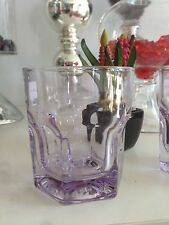 6 X Tumblers / Drinking Glasses 250 ml,in Purple High Quality Glass cups