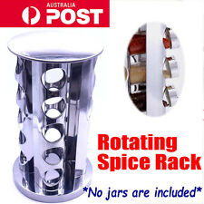 20 Jars Rotating Stainless Steel Spice Rack Stand Holder Kitchen Tools Worktop