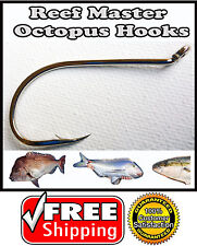 100 x 6/0 Chemically Sharpened Octopus Beak  Fishing Hooks. Bulk Pack