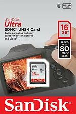 SanDisk Ultra 16gb SD Card SDHC SDXC Memory Card for Canon PowerShot SX410