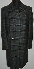 VINTAGE BURBERRYS HEAVY WOOL MACS COAT PRINCE OF WALES CHECK MARGETSON LEE GREY