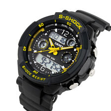 Skmei S-SHOCK Mens Waterproof Quartz Wristwatch Analog Digital Military Watch