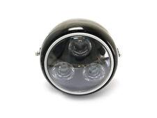 Schwarz Metall Motorrad LED Scheinwerfer Mit Grün Halogen Ring Für