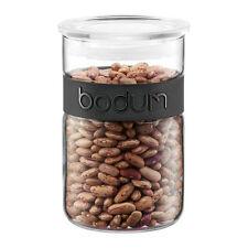 NEW Bodum Presso Storage Jar w/ Silicone Band 600ml - Black