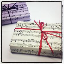 6 x SHEETS OF MUSIC WRAPPING PAPER IN CREAM A3 SIZE