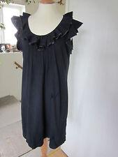 Next navy dress 100% Cotton fab detail round the neckline.