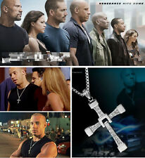 New Hot  FAST and FURIOUS Toretto's CROSS PENDANT Necklace Jewelry Gift Chain EY