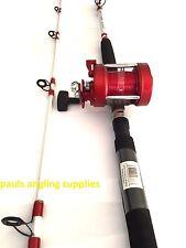 Shakespeare Omni Sea Fishing 7 ft Boat Rod + Multiplier Reel 20/30 lb LEFT HAND