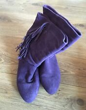 New Look Purple Suede Ankle Boots Size 5