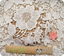 1Yard Of Victorian Bridal Wedding Dress Floral White Lace Fabric 002