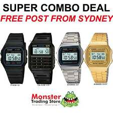 SUPER COMBO DEAL FREE POST FROM SYDNEY CASIO RETRO F91W,CA53W, A158WA, A168WG