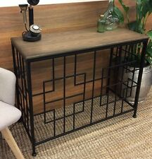 TRENTHAM RECTANGLE CONSOLE TABLE TIMBER TOP HALLWAY DISPLAY SIDE DESK METAL