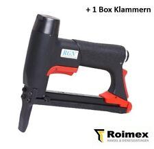 Industrie Nagler Druckluftnagler Klammernagler RGN 8016 L +1 Box Klammern 6-16mm