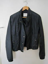 GRAB charcoal leather jacket, size