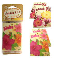 Bahama & Co 4 Pack Hanging Car Home Air Freshener Freshner Scent PINA COLADA