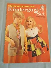 Vintage Retro Enid Gilchrist's Kindergarten Set Patterns 3 to 6 years  sewing