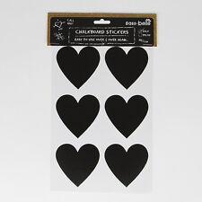 12 Heart Shape Blackboard Chalkboard Reusable Sticker Label Glass Jars Cards