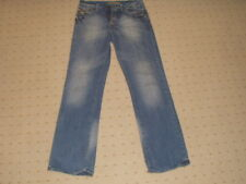 DUCK AND COVER SILVER DISTRESSED FADED LOOSE FIT JEANS 30 INCH WAIST