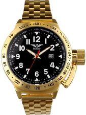 Minoir Uhren - Modell Nanton - gold/schwarz XL Automatikuhr, Herrenuhr