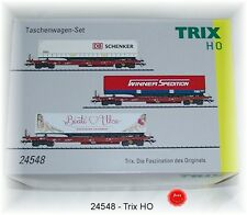Trix 24548 Freight Car Set the DB AG 3-piece unique series # in #