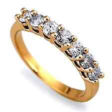 0.40 Carat Seven Round Diamond Half Eternity Ring Crafted in Yellow Gold.