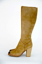 NEW 'Wittner' Women's Knee High Brown Leather Boots $RRP 269.99 {Size 41}
