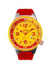 POSEIDON Unisex-Armbanduhr S Analog Silikonband UP00413 Rot/Gelb UVP 119,- €