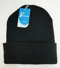 Wholesale 12pc Lot Solid BLACK Beanie Winter Knit Hats Beanies
