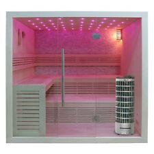 EO-SPA Sauna E1102B Pappelholz 200x170 9kW Cilindro