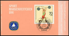 West Germany 1991 Sports, Weightlifting MNH Stamp Booklet #C34056