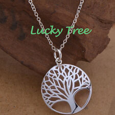 Serenity Prayer Tree of Life Pendant Inspiration Chain Charm Necklace Jewelry