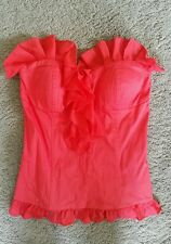 Bardot red ruffled bustier sz8 preowned free post D25