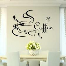 Coffee Cup DIY Removable Art Vinyl Wall Sticker Decal Mural Kitchen Home Decor