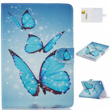 Blue Butterfly Magnetic Pattern Leather Smart Cover Case for iPad Mini 1 2 3 B5